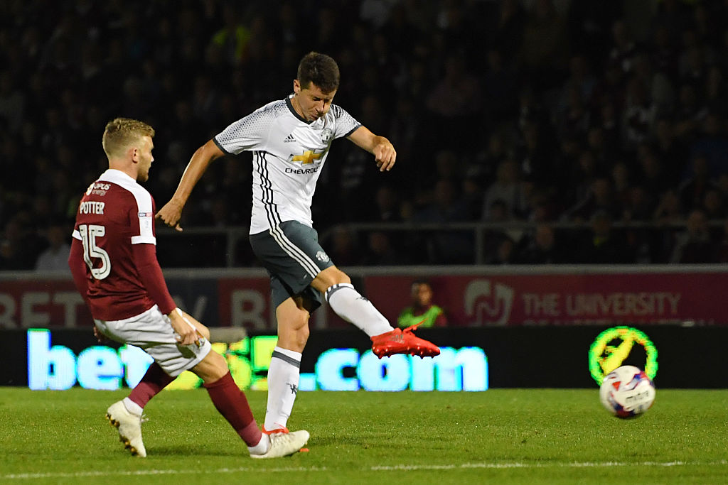ander herrera,jogador,northampton town,equipa,manchester united,efl cup 2016/17,league cup