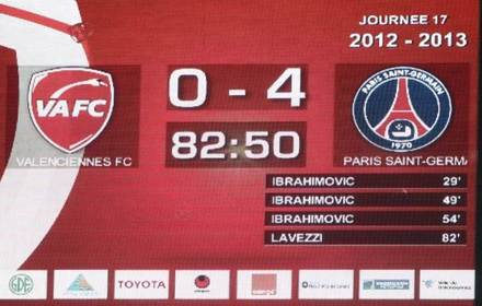 Valenciennes 0-4 Paris SG