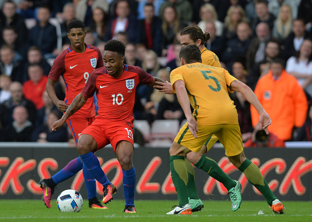 Raheem Sterling, Joshua Risdon, Mark Milligan
