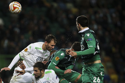 Sporting v Wolfsburg UEFA Europa League 2014/15 1/16 de Final