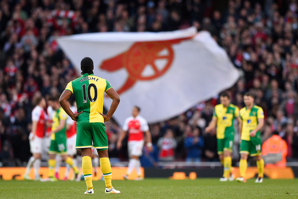 cameron jerome,jogador,arsenal,equipa,norwich city,p. league 2015/16,liga inglesa